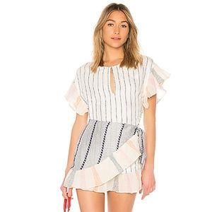 NEW Tularosa Jenny Wrap Dress Calmar Stripe